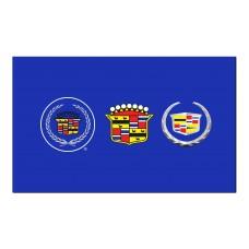 Cadillac Blue 3 Crests Historic Automotive 3' x 5' Flag