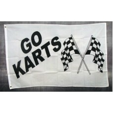 Go Karts w/ Flags Advertising 3'x5' Flag