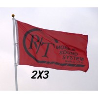 Custom 2' x 3' Polyester Flags Single Sided