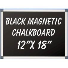 """12""""x 18"""" Aluminum Framed Magnetic Black Chalkboard"""
