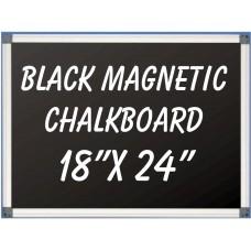 """18"""" x 24""""  Aluminum Framed Magnetic Black Chalkboard"""
