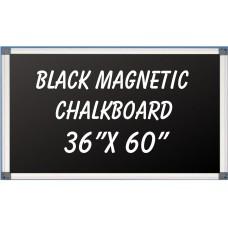 """36""""x 60"""" Aluminum Framed Magnetic Black Chalkboard"""