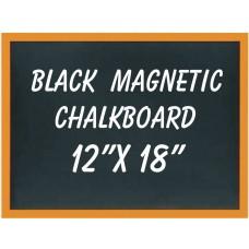 """12"""" x 18"""" Wood Framed Black Magnetic Chalkboard"""