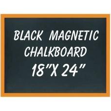"""18""""x 24"""" Wood Framed Black Magnetic Chalkboard"""