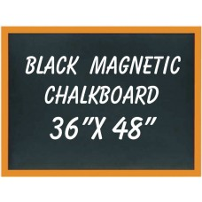 "36""x 48"" Wood Framed Black Magnetic Chalkboard"