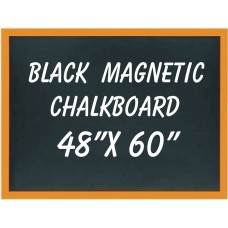 "48""x 60"" Wood Framed Black Magnetic Chalkboard"