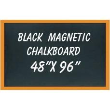 """48"""" X 96"""" Wood Framed Black Magnetic Chalkboard"""