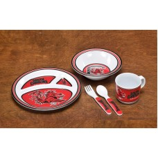 South Carolina Gamecocks 5 pc Kid's Dish Set