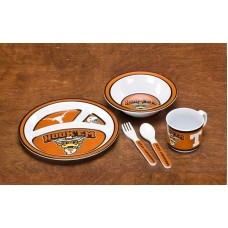 Texas Longhorns 5 pc Kid's Dish Set