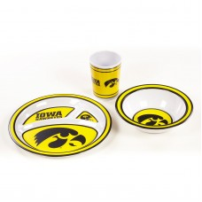 Iowa Hawkeyes 3 pc Kid's Dish Set