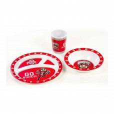 Ohio State Buckeyes 3 pc Kid's Dish Set