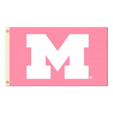 Michigan Wolverines Pink 3'x 5' Flag