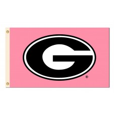 Georgia Bulldogs Pink 3'x 5' Flag