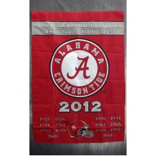 Alabama Crimson Tide 2012 Championship Years Outside House Banner