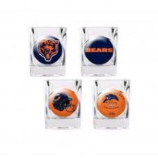 Chicago Bears 4 pc Shot Glass Set