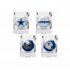 Dallas Cowboys 4 pc Shot Glass Set