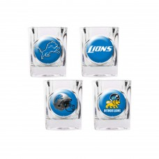 Detroit Lions 4 pc Shot Glass Set