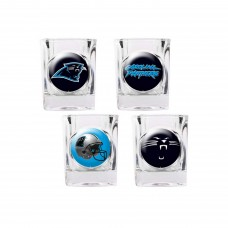 Carolina Panthers 4 pc Shot Glass Set