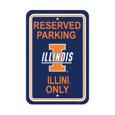 Illinois Fighting Illini 12-inch by 18-inch Parking Sign