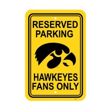Iowa Hawkeyes 12-inch by 18-inch Parking Sign