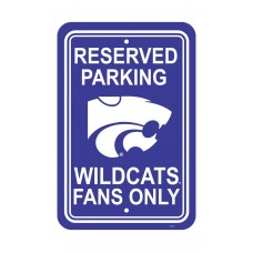 Kansas State Wildcats 12-inch by 18-inch Parking Sign