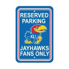 Kansas Jayhawks 12-inch by 18-inch Parking Sign