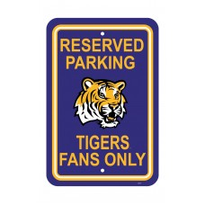 Louisiana State Tigers 12-inch by 18-inch Parking Sign