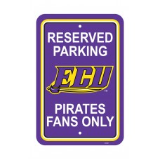 East Carolina Pirates 12-inch by 18-inch Parking Sign