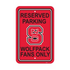 North Carolina State Wolfpack 12-inch by 18-inch Parking Sign