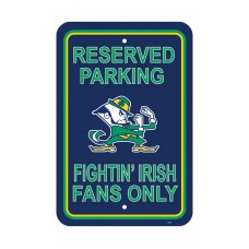 Notre Dame Fighting Irish 12-inch by 18-inch Parking Sign