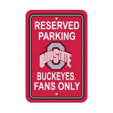 Ohio State Buckeyes 12-inch by 18-inch Parking Sign