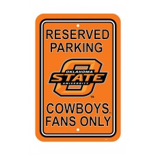 Oklahoma State Cowboys 12-inch by 18-inch Parking Sign