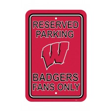 Wisconsin Badgers 12-inch by 18-inch Parking Sign