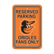 Baltimore Orioles Parking Sign
