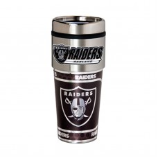 Oakland Raiders Travel Mug 16oz Tumbler with Logo