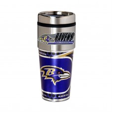 Baltimore Ravens Travel Mug 16oz Tumbler with Logo