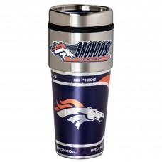 Denver Broncos Travel Mug 16oz Tumbler with Logo