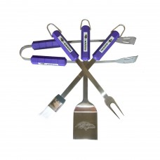 Baltimore Ravens 4 Piece BBQ Set