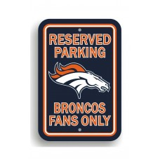 Denver Broncos 12-inch by 18-inch Parking Sign