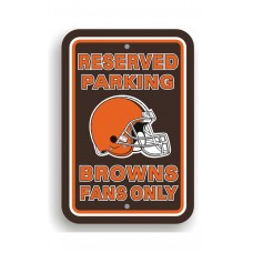 Cleveland Browns 12-inch by 18-inch Parking Sign