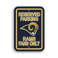 St. Louis Rams 12-inch by 18-inch Parking Sign