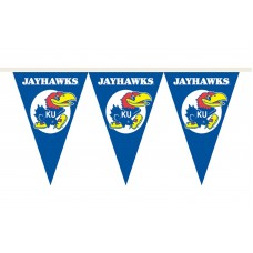 Kansas Jayhawks 25 Foot Party Pennants