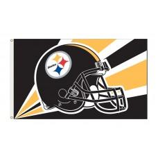 Pittsburgh Steelers Helmet 3'x 5' NFL Flag