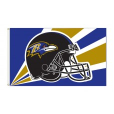 Baltimore Ravens Helmet 3'x 5' NFL Flag