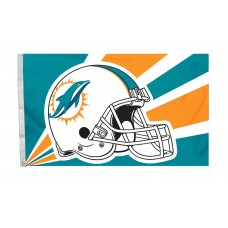 Miami Dolphins Helmet Design 3'x 5' NFL Flag