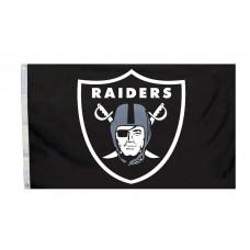 Oakland Raiders Logo 3'x 5' NFL Flag