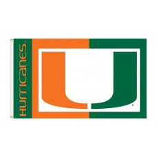 Miami Hurricanes 3'x 5' College Flag