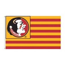 Florida State Seminoles Striped USA Style 3'x 5' Flag