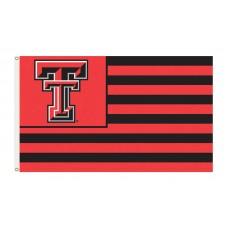 Texas Tech Red Raiders Striped USA Style 3'x 5' Flag