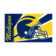 Michigan Wolverines Helmet 3'x 5' Flag
